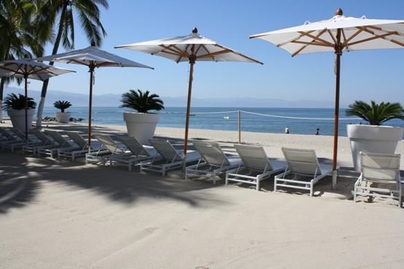 Private beach area roped off for guests.  This avoids having vendors approach you every minute. - Icon Vallarta Luxury 2 BR on the Beach w/Laptop! - Puerto Vallarta - rentals