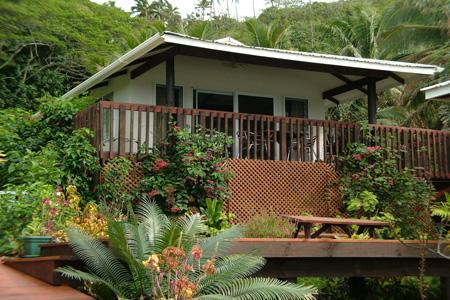 Lovely garden setting with partical ocean views - Muri Lagoon View Bungalows - Rarotonga - rentals