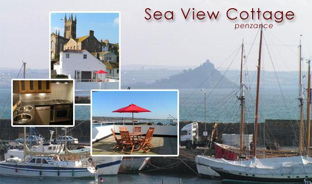 Views over Penzance harbour from large sun balcony. - Sea View Cottage Penzance, Cornwall - Penzance - rentals
