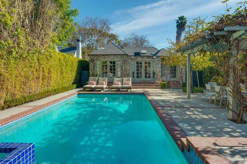 Pool, spa, and patio - Designer Villa,Private Pool+Spa,Walk to Melrose - Hollywood - rentals