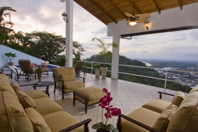 Fabulous Views from the Outdoor Living Area at Casa del Toro - Best Value Around!Ocean/Quepos View by Marina/Park - Manuel Antonio - rentals