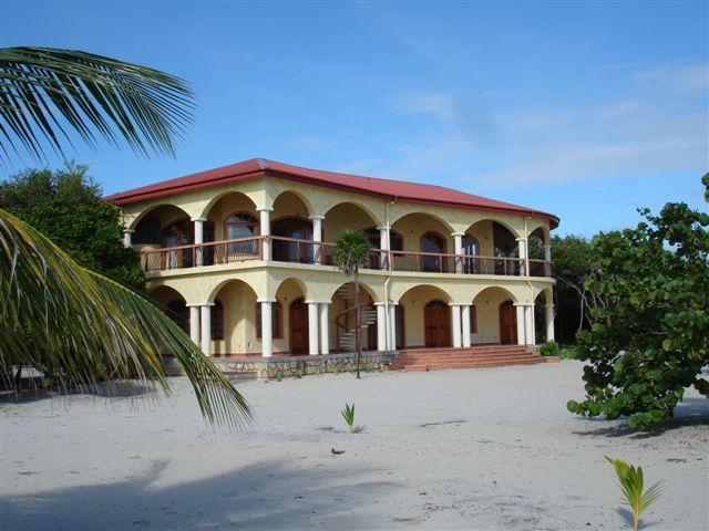 Villa Ranguana from the beach - Villa Ranguana - the Ultimate in Beachfront Luxury - Placencia - rentals