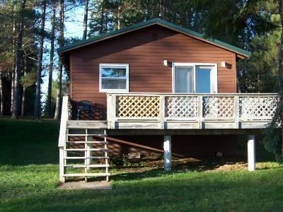 view of cabin from the water - Pine Lake Cabin 4 Rent between Mercer & Hurley WI - Hurley - rentals