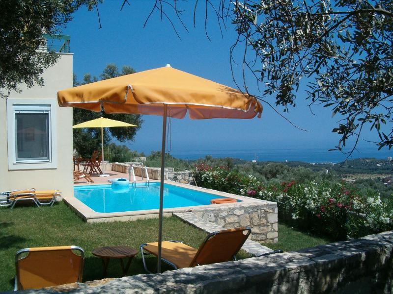 Peaceful villa with pool and magic view in Crete - Image 1 - Crete - rentals