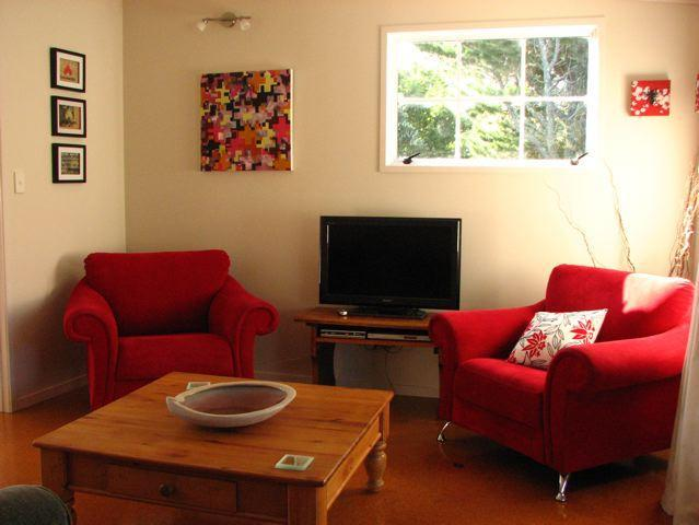 Part of the lving room - Studio 531 Accommodation and Pottery - Coromandel - rentals