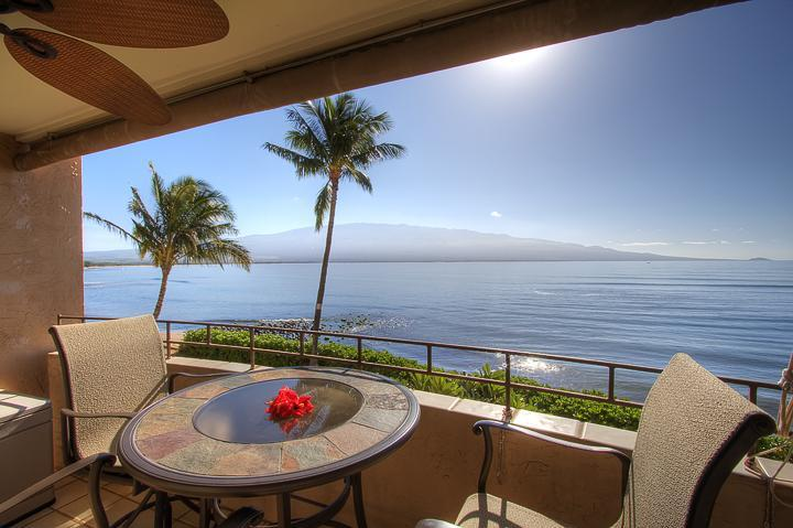 Beautiful lanai - Romantic Ocean Front/OV in South Maui. Remodeled! - Maalaea - rentals