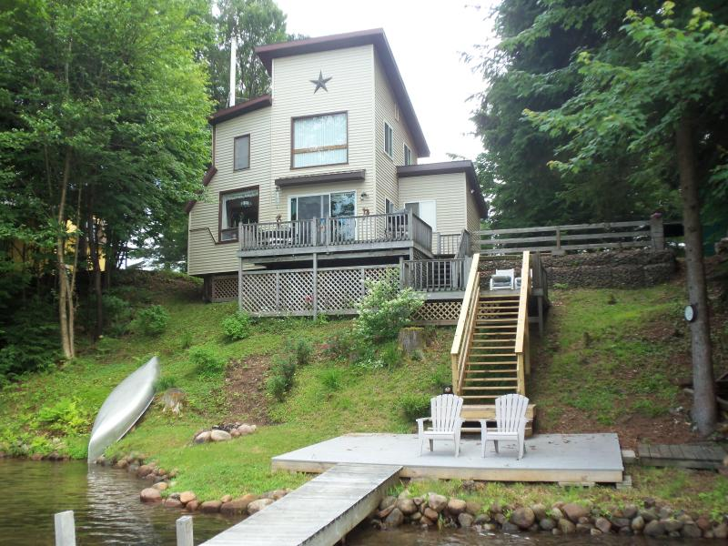Lakeside view - Modern Waterfront Cottage - Camp Watkins - Star Lake - rentals