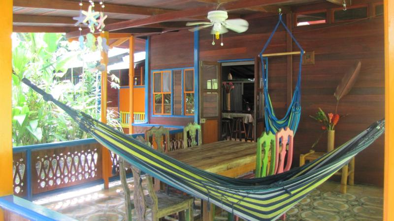 Porch and outdoor dining area - Casa Grande: Jungle & Beach Retreat - World - rentals