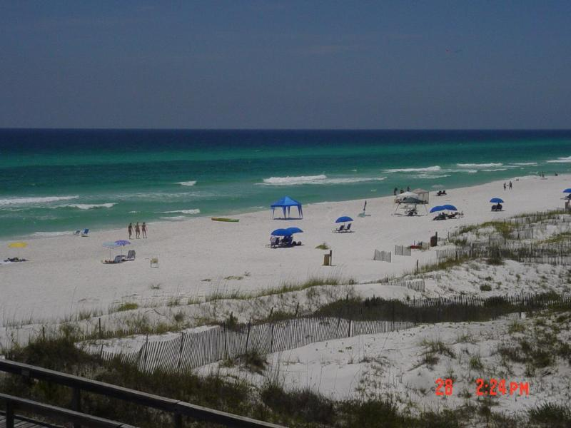 Exterior Beach view from porch - Beauty and the Beach,  on Seagrove Beach, Fl. - Seagrove Beach - rentals