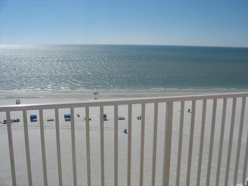 beach view from balcony - SEABREEZE- OCEANFRONT-Your Family's Beach Vacation - Madeira Beach - rentals