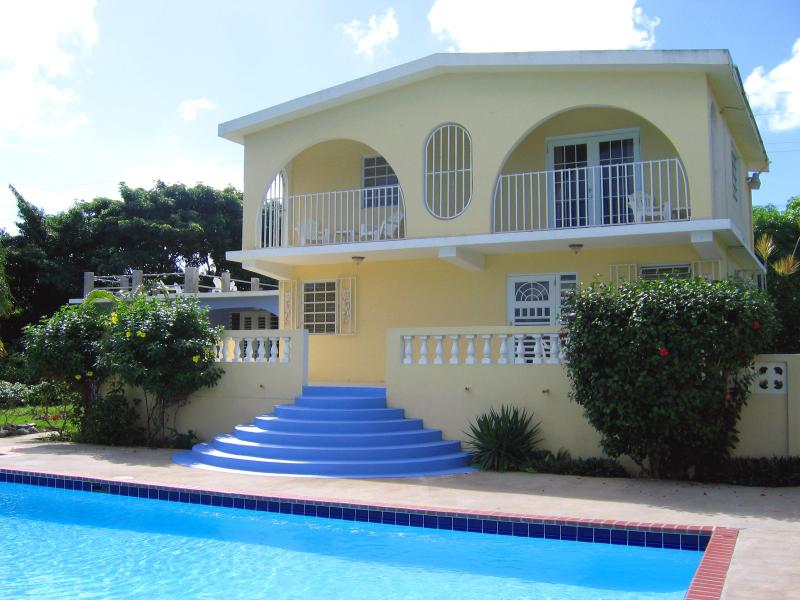 Casa Ladera and our 20x40-ft pool - Casa Ladera Upstairs: Pool, View, Steps to Beach - Vieques - rentals