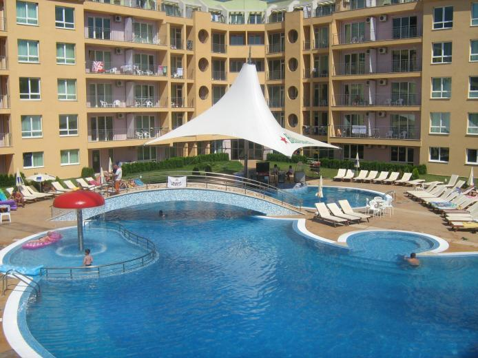 Apartment is on the right hand side, 1st floor. - Luxury Studio Apartment - Sunny Beach, Bulgaria - Sunny Beach - rentals