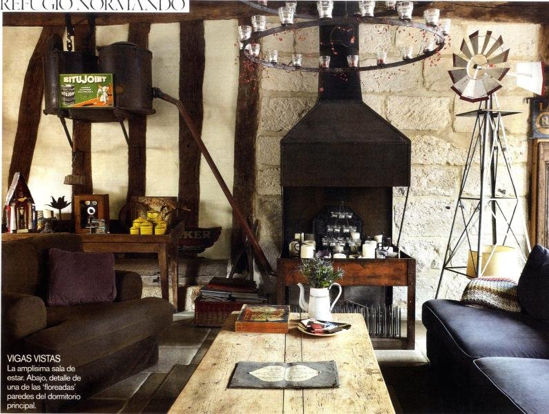 living area in main room - Blacksmiths's atelier featured in Spanish Vogue - Les Andelys - rentals