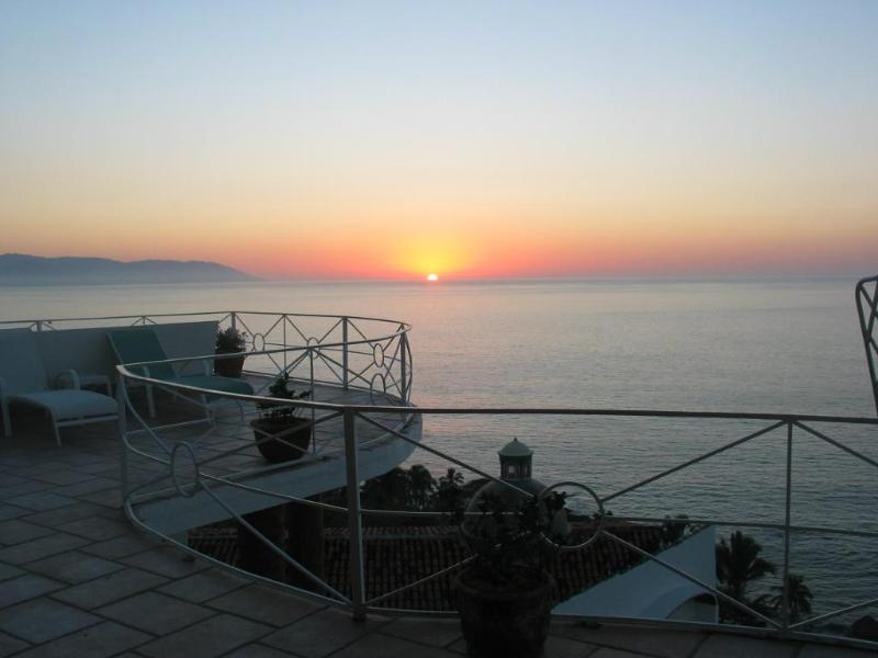 Sunset over Banderas Bay - Casa Gregory - Breathtaking Views of Banderas Bay - Puerto Vallarta - rentals