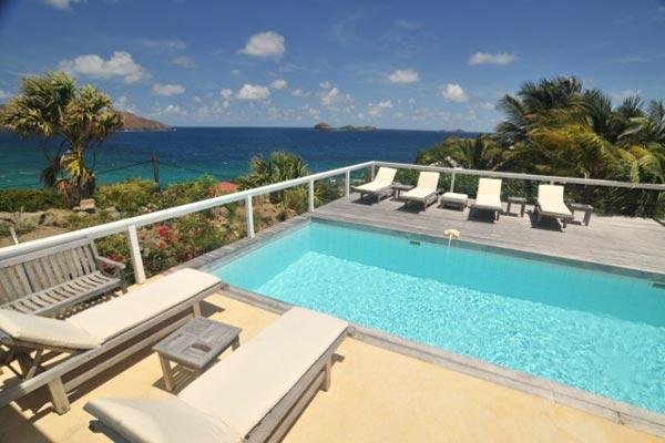 All day sun & constant breezes in this beautiful St. Barts villa WV ABT - Image 1 - Anse Des Cayes - rentals