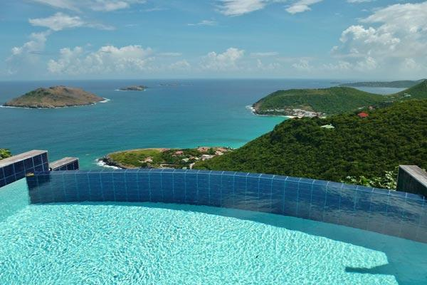 Luxury villa tucked away high in the hills on the tip of the island WV VHM - Image 1 - Colombier - rentals