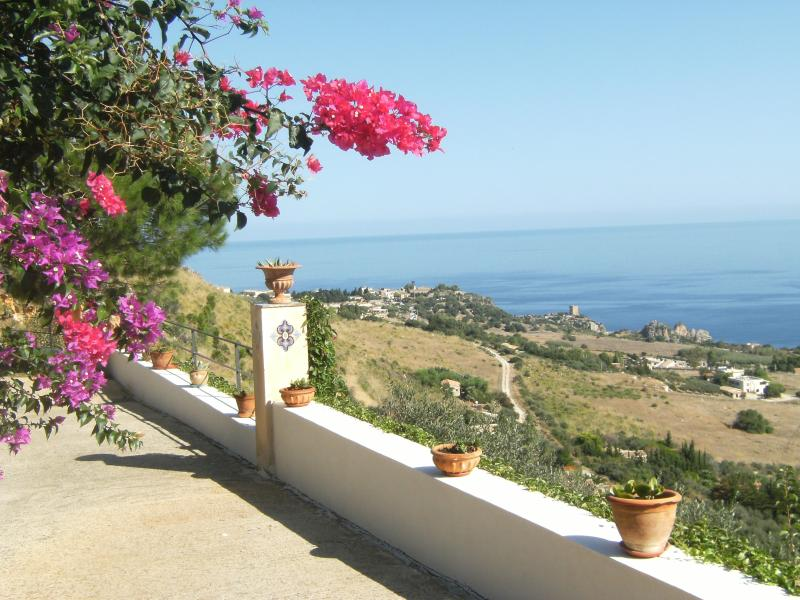 view over Scopello,and Faraglioni - Villa Cecilia, beautiful sea view. Welcome Lunch. - Scopello - rentals