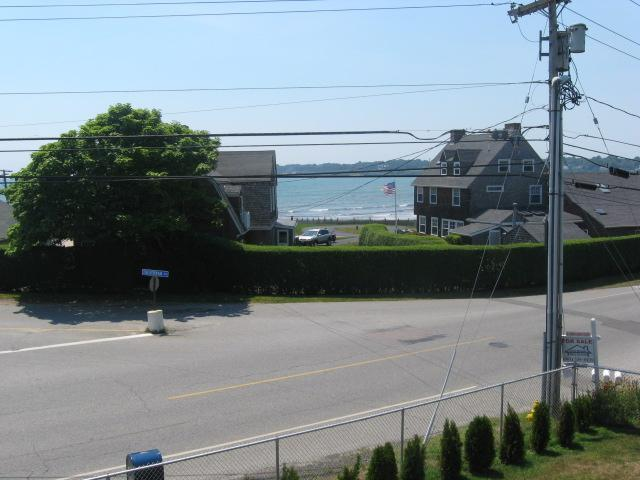 beach view, access to left - Awesome Easton's Beach Condo Steps to Water W/View - Middletown - rentals