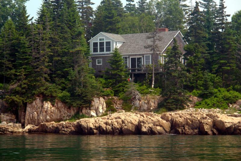 View from Willard's Way, our friend's lobster boat - Pauls Cottage @ Seaside Cottages, Mt Desert Acadia - Tremont - rentals