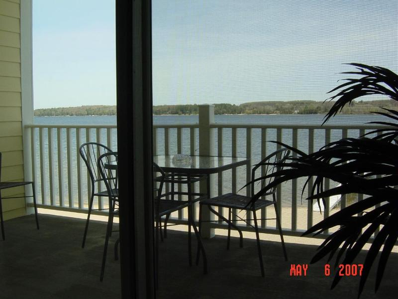 Patio/Veiw - Lake Charlevoix Luxury 3BR Waterfront With Beach - East Jordan - rentals
