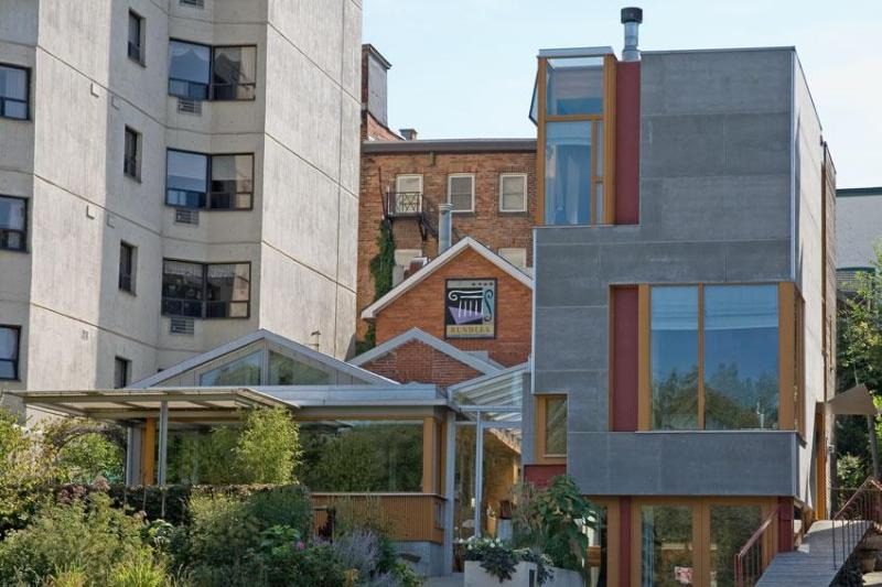 Front of Rundles Restaurant (left), and Rundles Morris House (tower).  Architecture: Shim-Sutcliffe. - Luxurious two-bedroom home in Stratford, Ontario. - Stratford - rentals