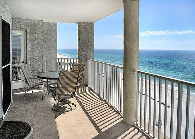 Balcony with Fabulous Gulf View - BEACHFRONT FOR 8!  GREAT VIEWS! 10% OFF ALL SEPT/OCT STAYS! - Panama City Beach - rentals
