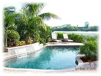 Heated Waterfront Private Pool with Waterfalls!! - Palm Island Waterfront Pool Home 3 BR  / 2 Bath!! - Palm Island - rentals
