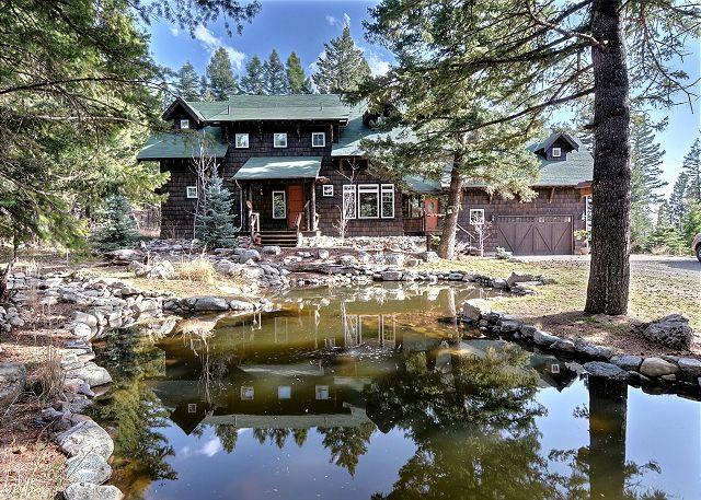 A lovely pond fronts Saddle Mountain Lodge - Saddle Mountain Lodge - Bozeman - rentals