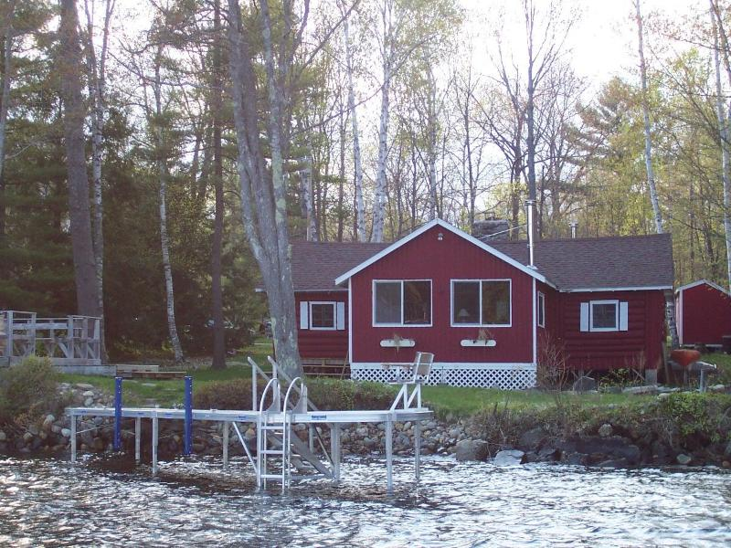 Waterfront  view of cabin - Belgrade Lake Region 4 Bd Messalonskee Lake Rental - Oakland - rentals