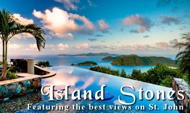 Views over the pool to Cinnamon Bay and the BVI - Catherineberg's Most Luxurious Villa Island Stones - Catherineberg - rentals