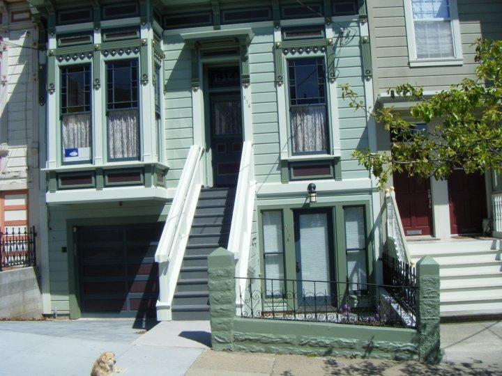 View of property. Garden Apartment entrance is at right. - Great 2 BR/2 BA Victorian Garden Apt in Noe Valley - San Francisco - rentals