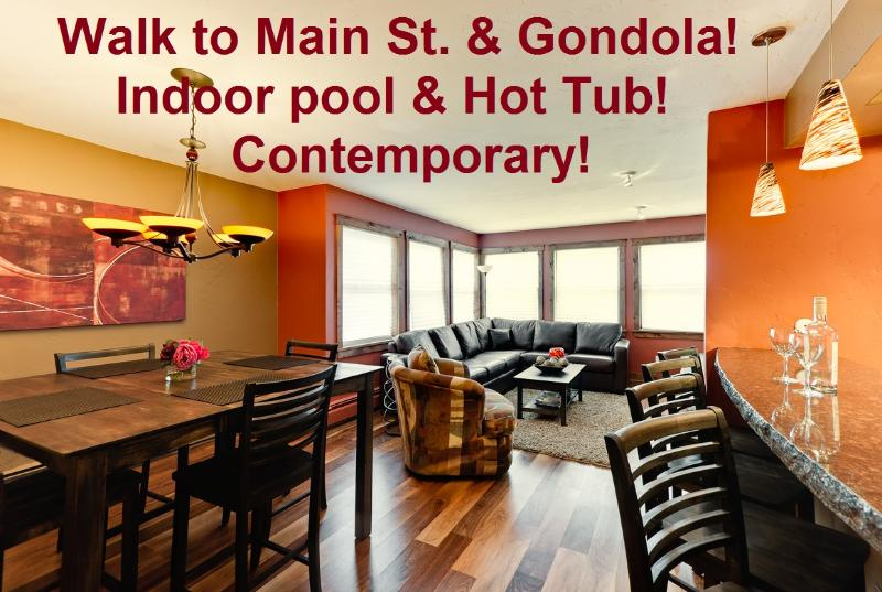 2 minute walk to Main St. Indoor Pool & Hot-Tub! - Image 1 - Breckenridge - rentals