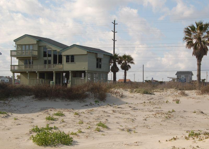 House as viewed from beach - Island Cabana-BeachSide Sleeps 10-12 3BR/2.5 Bath - Galveston - rentals