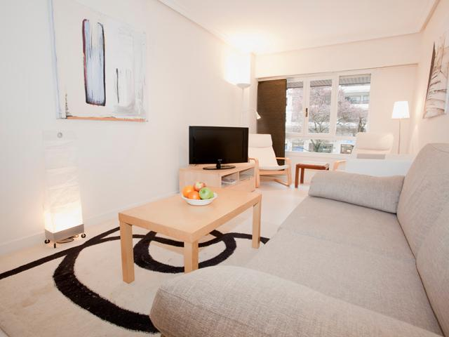 Living room - Affordable modern refurbished close 2 stadium WIFI - San Sebastian - Donostia - rentals