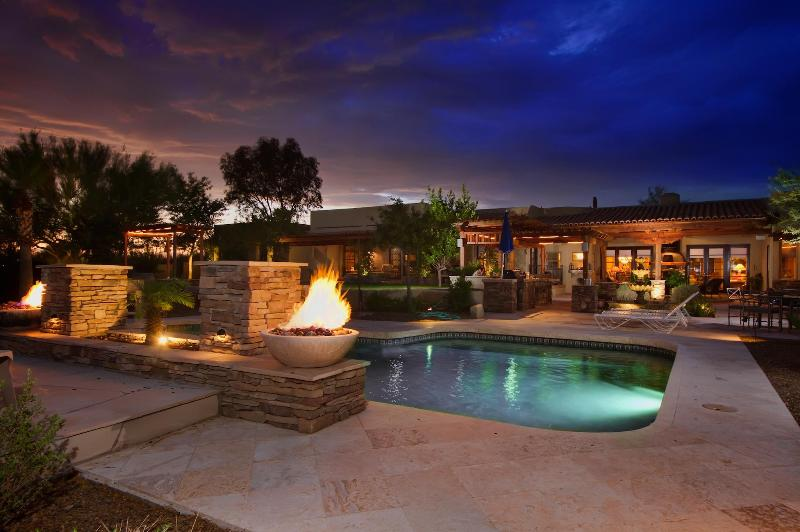 Private Lavish Pool with Waterfall and Fire Feature - Fall Special Offer! Entertainment Galore! - Cave Creek - rentals