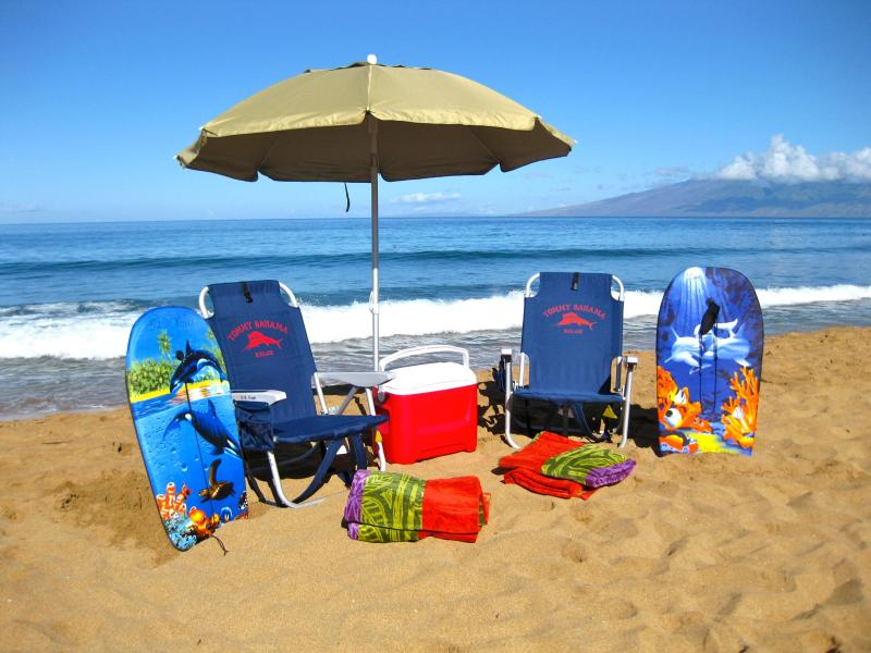All these extras are provided in this Maui condo, ready for a day on the beach? - Ocean View at Honua Kai, Perfect Beachfront Luxury - Kaanapali - rentals