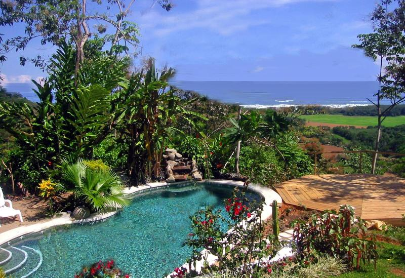 Pool and Ocean view from breakfast table - Toucan Studio - Dominical - rentals