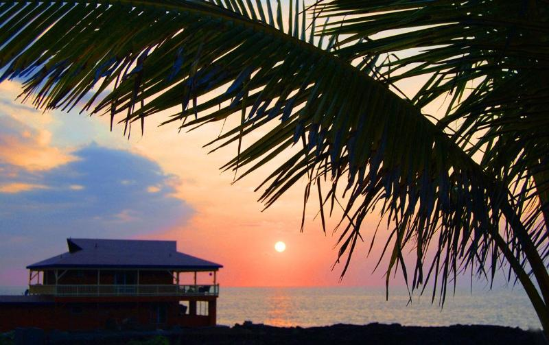 Hale Kai Sunset - Spectacular Oceanfront Home only 20' from the Sea! - Milolii - rentals