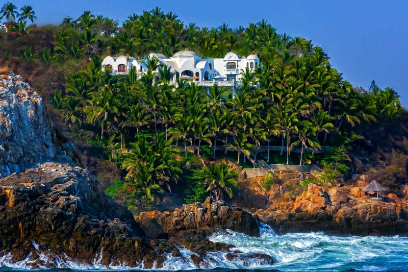 Palace By The Sea viewed from sunset cruise - 5 Star DreamVilla w/Chef - $6,000-12,000/week - Manzanillo - rentals
