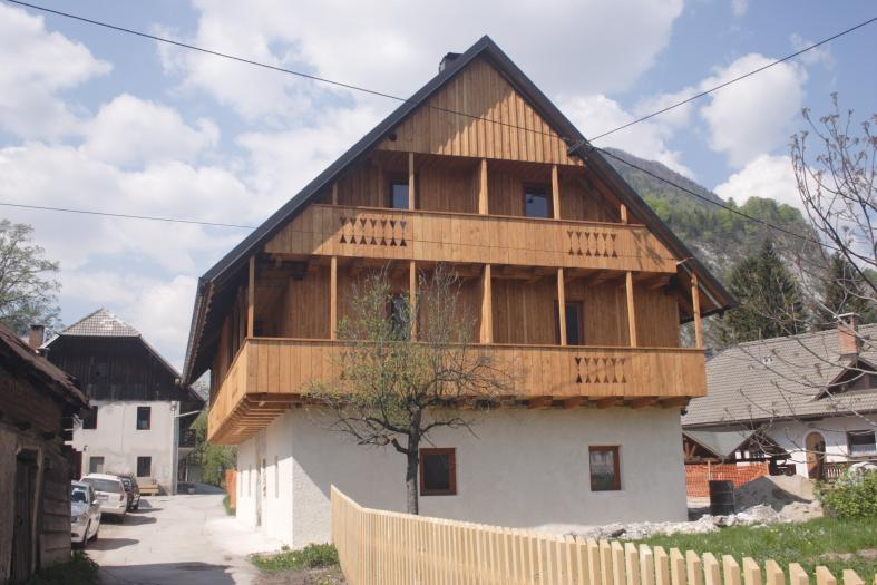 Apartment is the left-hand side from balcony level upwards - Perfect Alpine getaway-luxury apartment-sleeps 6 - Slovenia - rentals