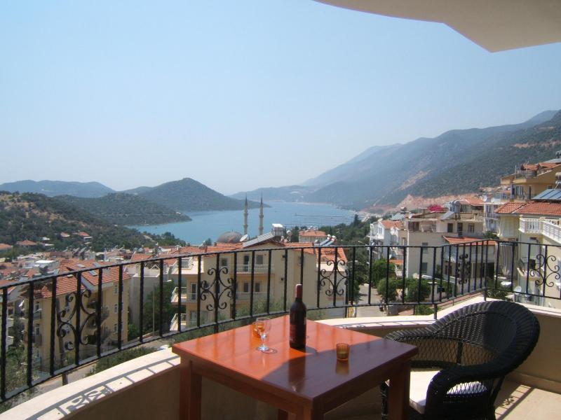 Balcony, Fantastic Sea Views - Ideally Located Penthouse Duplex Town Apt.--Pool - Kas - rentals