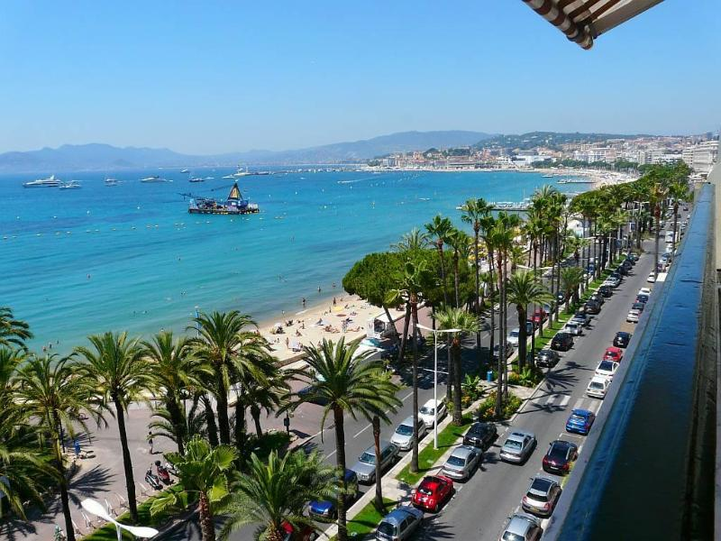 view from the terrace - Cannes Croisette seaview 1bedroom flat garage wifi - Cannes - rentals