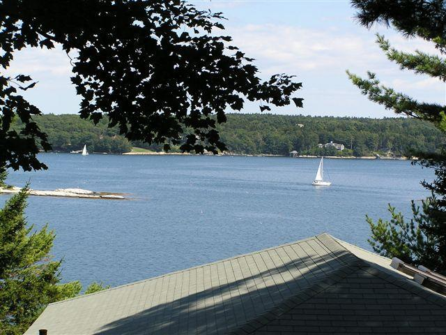View from Oceanview Cottage. Watch the lobstermen. Might see seals! - Boothbay Maine Pet-friendly ocean vacation rental - Boothbay Harbor - rentals