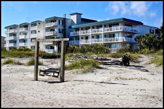 View of Ocean Song Condos from Beach - Ocean Song #332 - Tybee Island - rentals