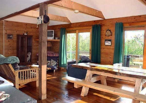 dining/living room - snowmobilers-Large cabins in Bingham-trail access - Bingham - rentals