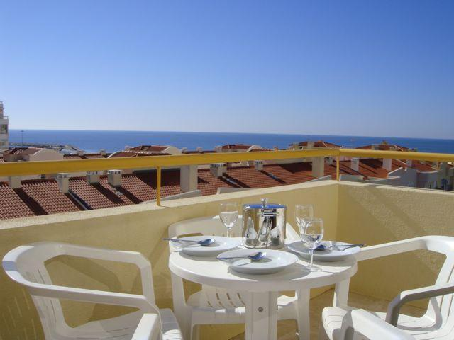 View from balconey - 2 bedroom 8th floor apt with spectacular sea views - Quarteira - rentals