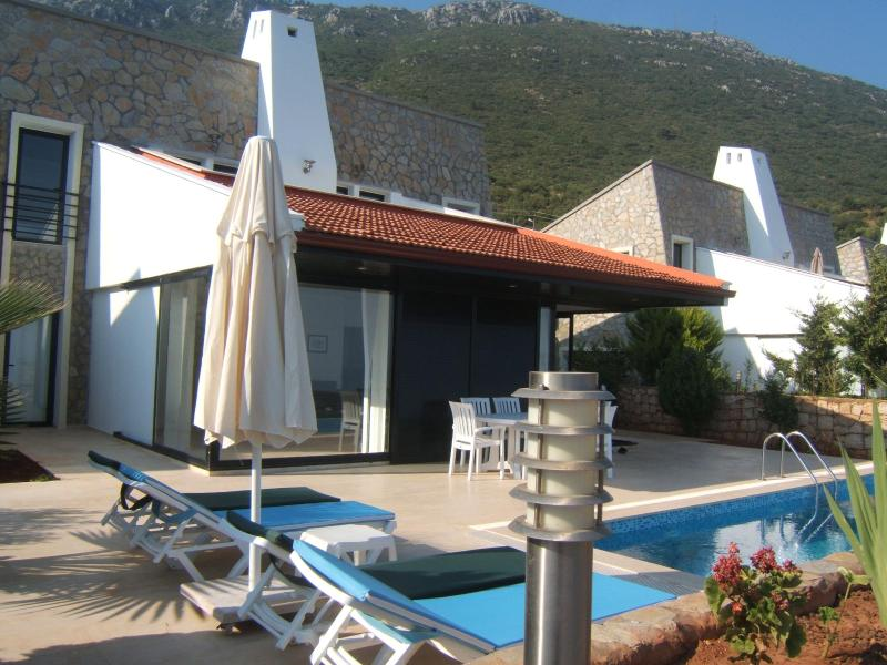 Pool and Terrace - Rustic Luxury-Yenikoy Villas-Pvt Pools & SeaViews - Kas - rentals