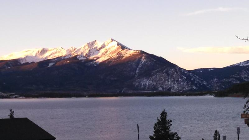 Spring is Coming!! View from deck - Gorgeous Updated Lake Cliffe Condo 2BR Grd Flr - Dillon - rentals