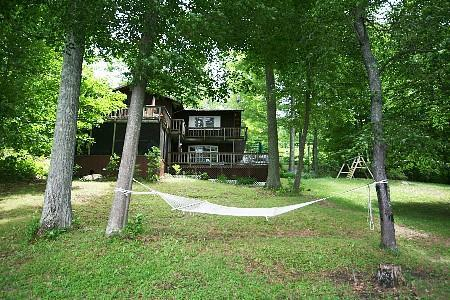 View of the property from the lake. - Paradise on Cedar Lake - Monkton - rentals