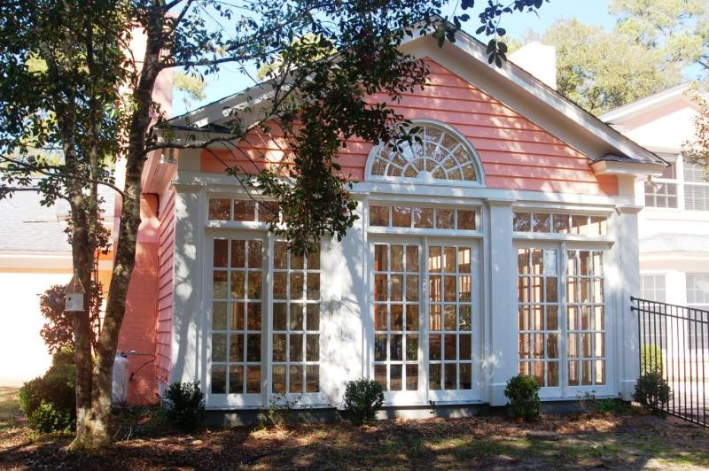Sea Oaks Retreat Solarium under dappled light - 'Sea Oaks Retreat '  sleeps 10+ Pet Friendly! - Pawleys Island - rentals